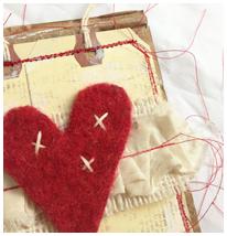 Tag & Cardboard Heart Valentine