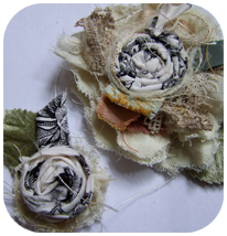 Shabby Fabric Flowers