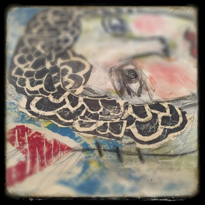 art faces in art journaling with roben-marie smith