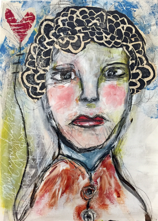 faces in art journaling by Roben-Marie Smith