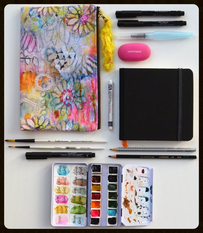Watercolor and Sketch Supplies with Roben-Marie