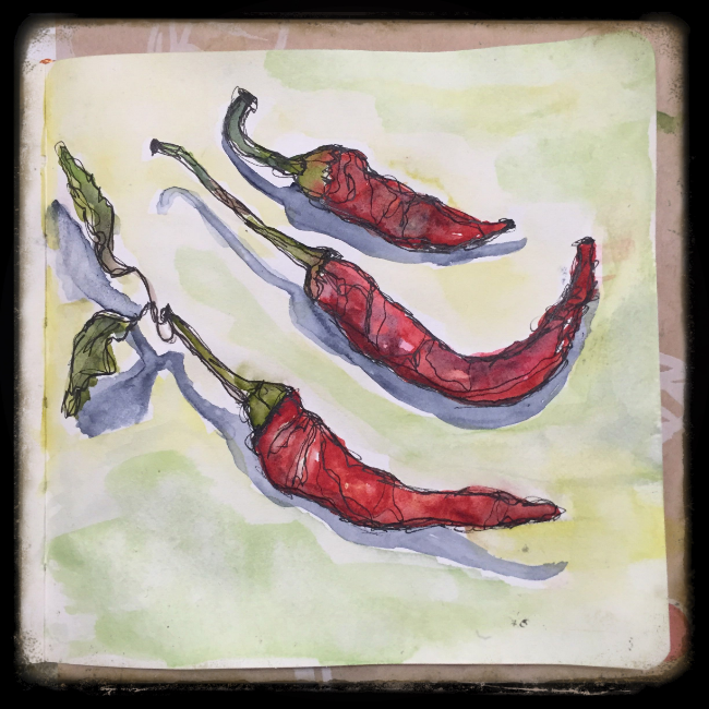 Peppers sketch by Roben-Marie Smith