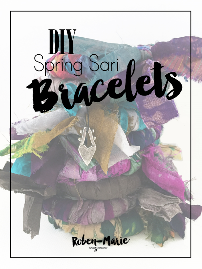 DIY Spring Sari Bracelet Tutorial with Roben-Marie