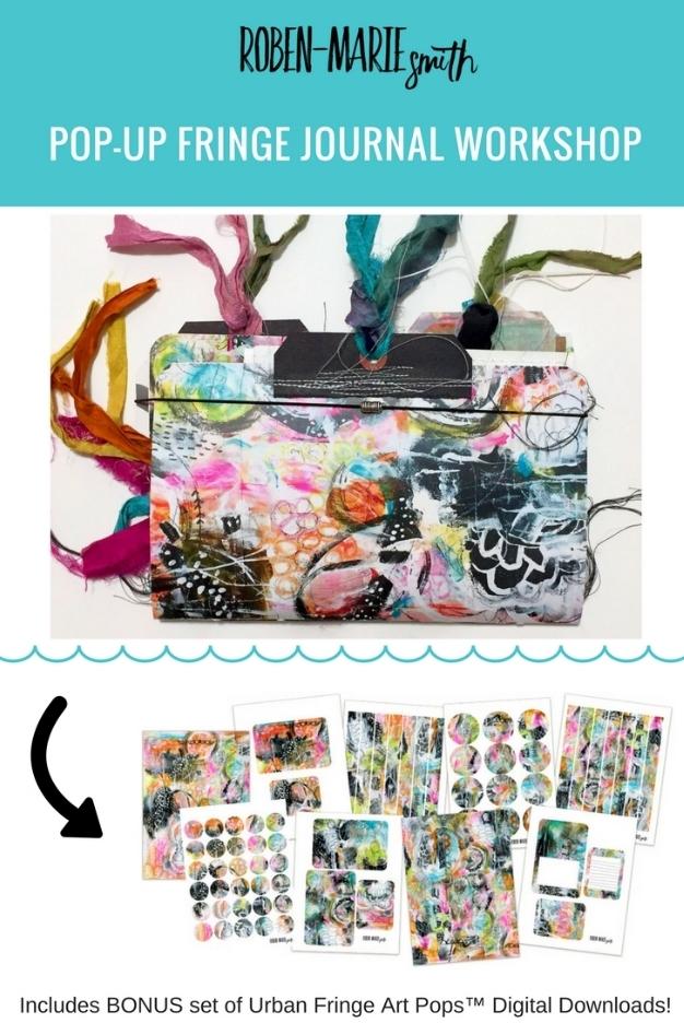 @robenmarie Pop-Up Fringe Journal Workshop https://robenmariestudio.com/p/popup-fringe-journal Includes free digital downloads from the Urban Fringe Art Pops™ Collection!