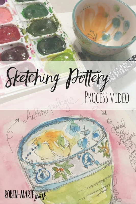 Sketching Pottery Process Video with @robenmarie