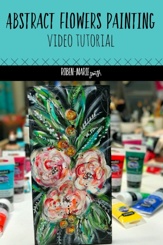 Abstract Flowers Painting Tutorial