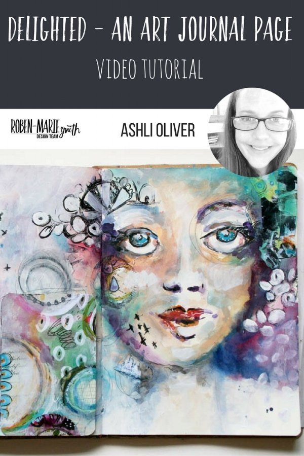 Design Team member Ashli Oliver creates a beautiful art journal spread for us filled with delight and whimsy! She uses stamps from Paperbag Studios and and Art Pops™! @ashlioliver @robenmarie #robenmarie #robenmariedesignteam #paperbagstudios #artpops #mixedmedia #diy