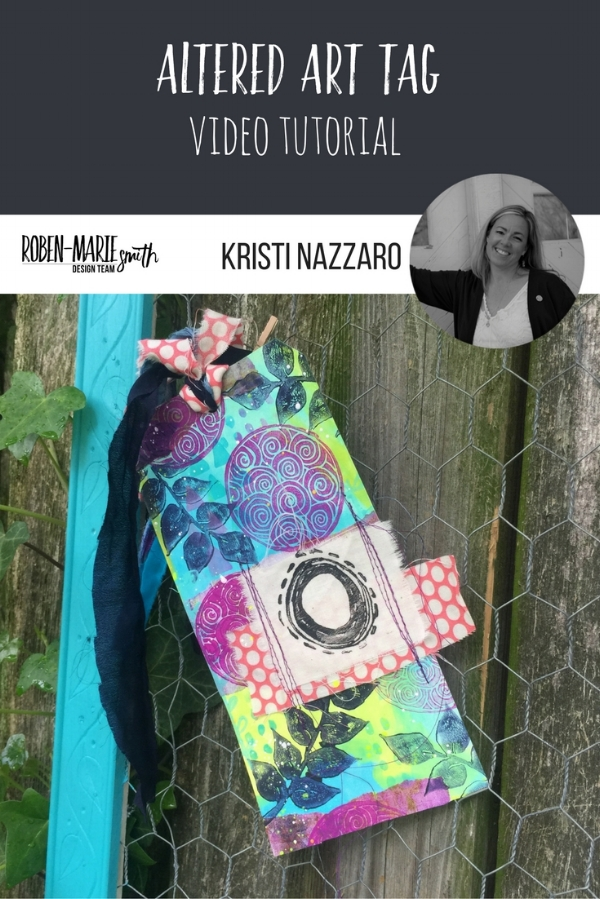 Design Team member Kristi Nazzaro shares her process for making her gorgeous altered art tag with us for her design team project. Be inspired as she uses stamps from Paperbag Studios and Art Pops™ to create this gorgeous piece of Art! @robenmarie @kristinazzaro #robenmarie #robenmariedesignteam #paperbagstudios #artpops #mixedmedia #diy