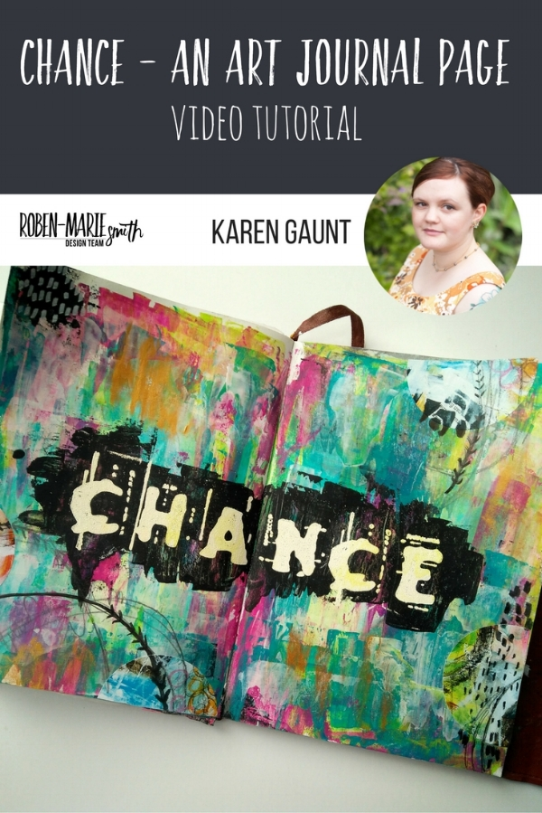 """Design Team member Karen Gaunt shares her """"Chance"""" Journal page with us. Be inspired by her techniques as she uses stamps from Paperbag Studios and Art Pops™ to create this gorgeous piece of Art! @robenmarie @karengaunt #robenmarie #robenmariedesignteam #paperbagstudios #artpops #mixedmedia #diy"""