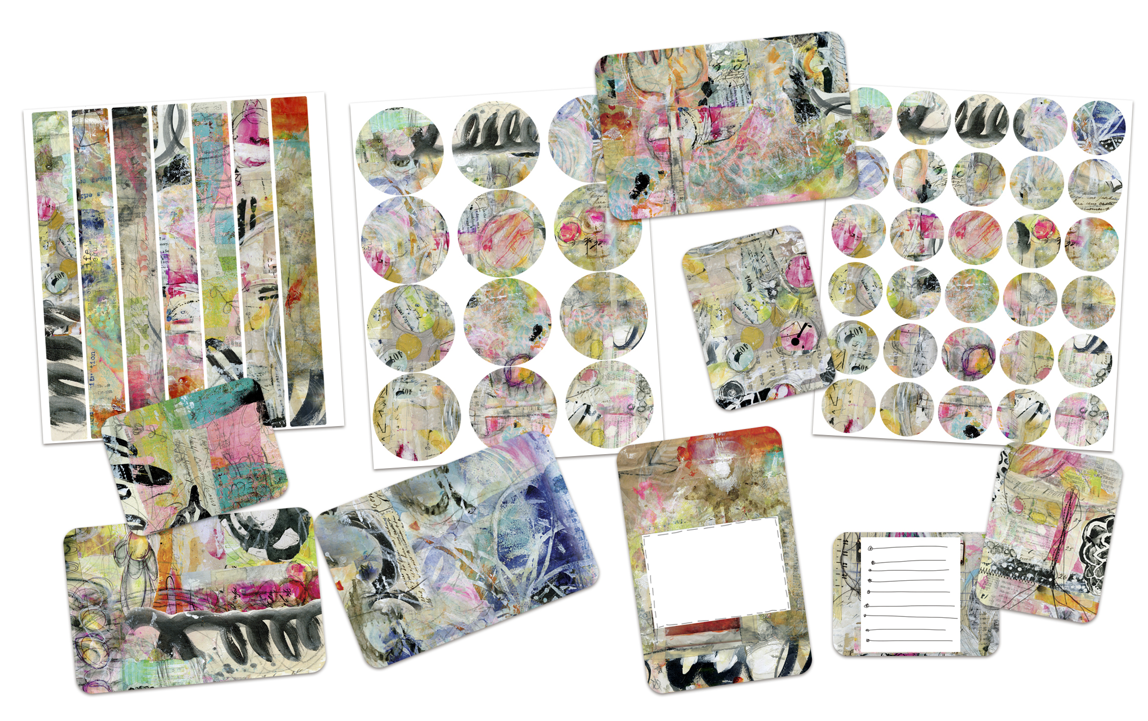 The 100 Days Art Pops™ Collection by Roben-Marie Smith available at https://shoprobenmarie.com/ #artpops #mixedmedia #projectlife #stickers #diy @robenmarie