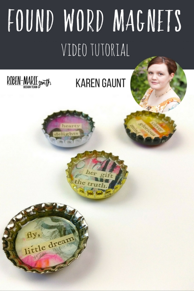 Design Team member Karen Gaunt is sharing with us how she got creative by upcyling some bottle caps for her latest Design Team project. Create your own magnets to adorn your fridge or to give away to someone special. She uses Art Pops™ to create this gorgeous piece of Art! @robenmarie @karengaunt #robenmarie #robenmariedesignteam #paperbagstudios #artpops #mixedmedia #diy