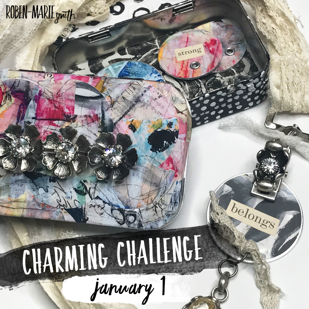 Join Roben-Marie Smith for her free Charming Challenge beginning January 1 on Instagram. Want to make a Charming Box and Necklace just like her's? Sign up for her Charming Affirmations Workshop and she will show you how! Also, grab your free download of my Affirmationa Alphabet Worksheet. @robenmarie #diy #jewelry #affirmations #altoidstins #sariribbonjewelry #robenmarie #robenmariesmith #altoids