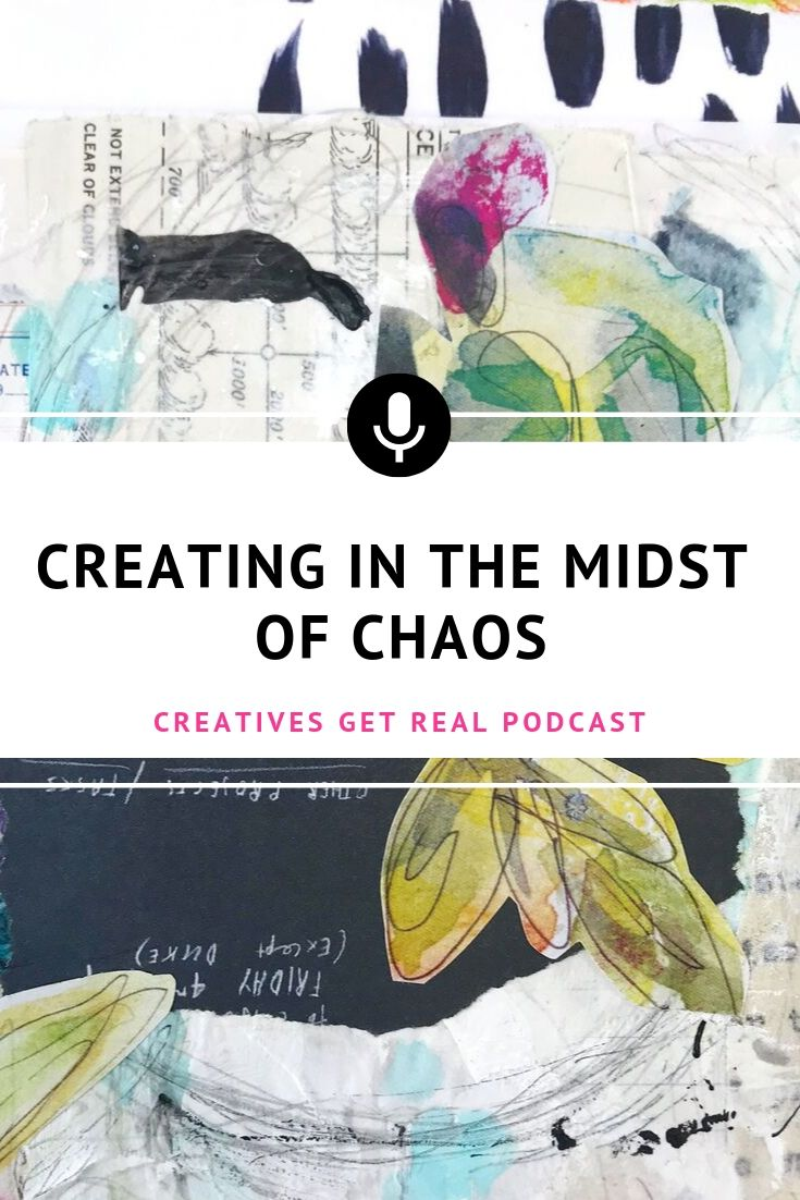 During times of stress - art can be so therapeutic and a chance to breathe, to relax, to do repetitive motions that soothe the soul. Listen to the Creatives Get Real Podcast to hear an honest and inspiring chat with Roben-Marie Smith and Sandi Keene as they discuss what it is like to create in the midst of chaos. #creatives #artisttips #artpodcast #womenartists #creativelife #arttherapy