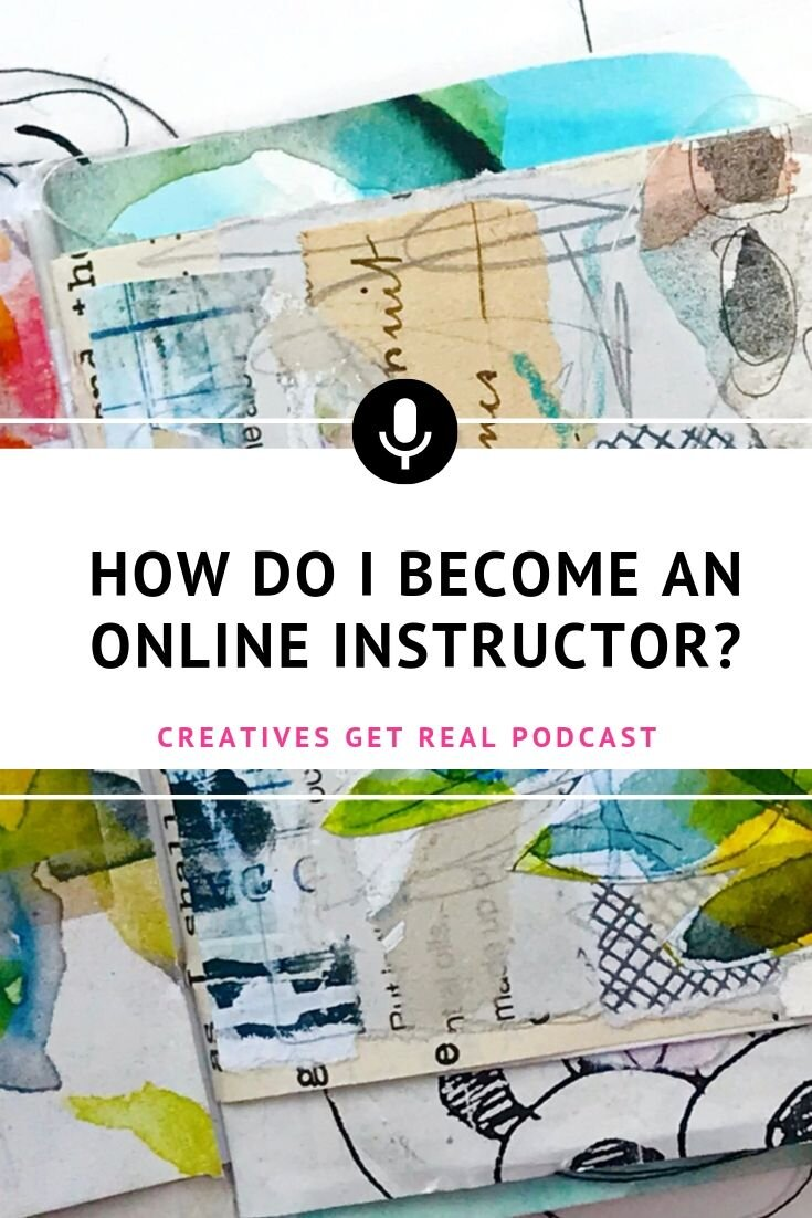 Are you ready to start teaching online art and mixed media workshops? As a creative, you may be thinking you would like to share your art knowledge and start teaching. Here are tips to ranging from the technical requirements to the equipment.. #creatives #artisttips #artpodcast #womenartists #creativelife #artbusiness #creativesgetreal