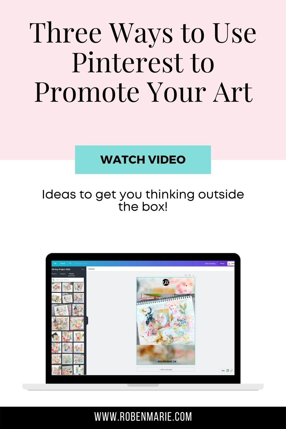 Three Out of the Box Ways to Use Pinterest to Promote Your Art —  Roben-Marie Smith - Tech-Savvy Artist