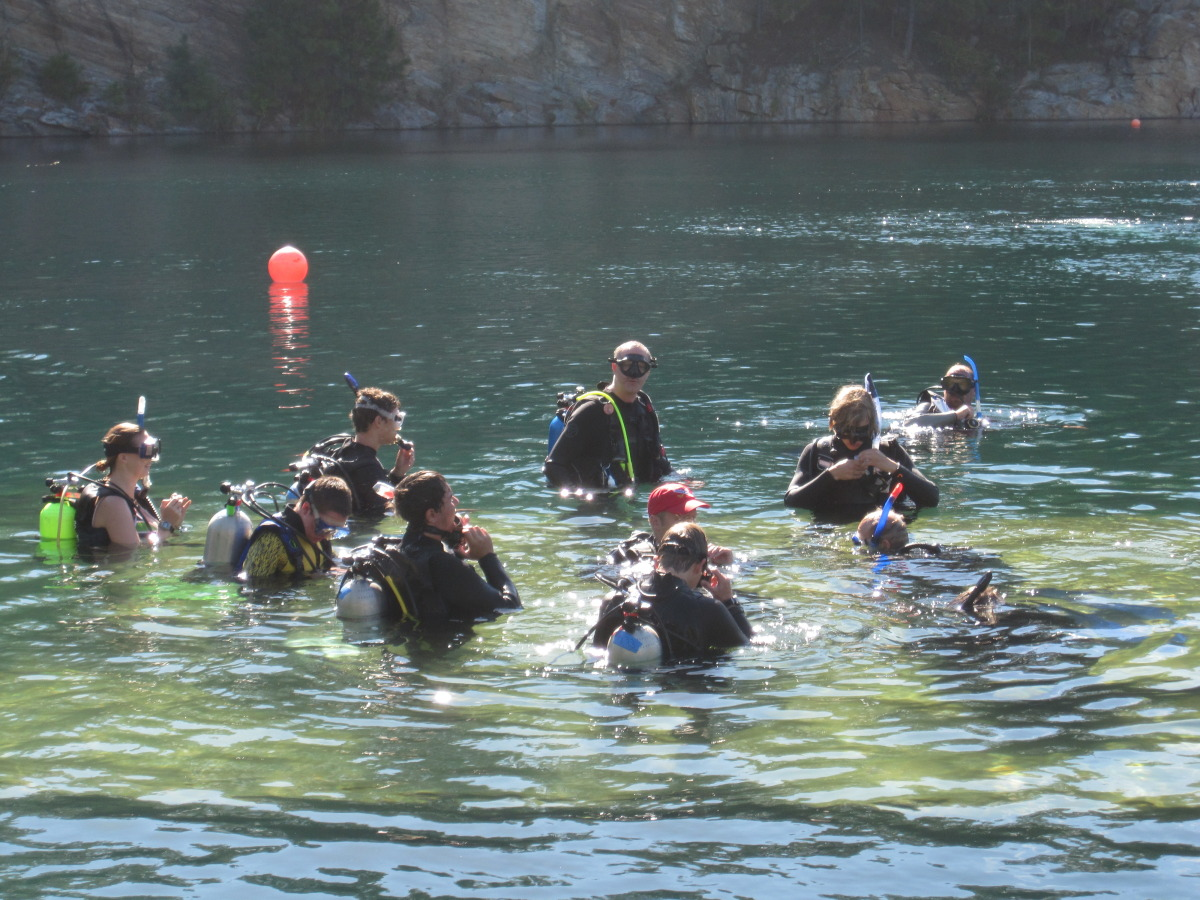 The Troop getting ready to dive.