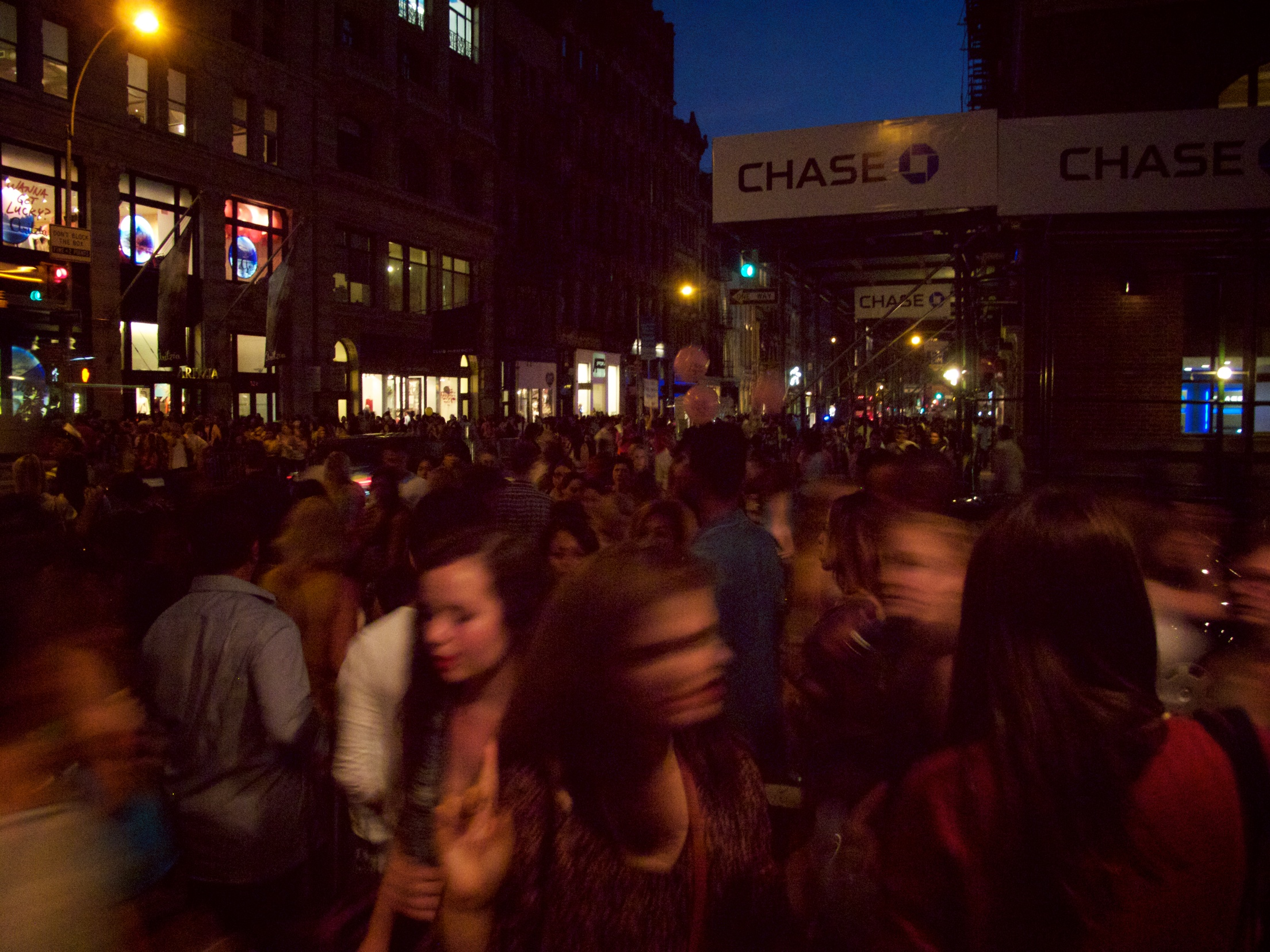 The stylish throngs massing on Broadway