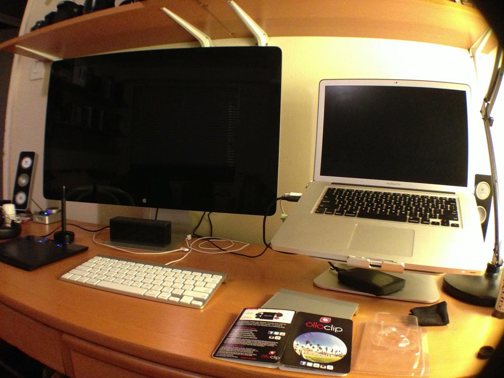 Current setup: unibody MacBook Pro with Thunderbolt Cinema Display