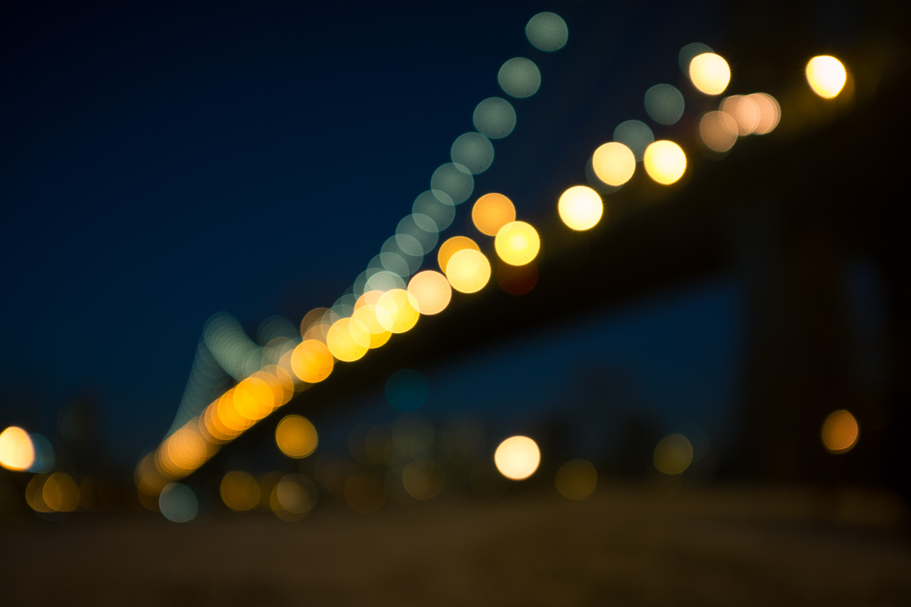 A blobby Manhattan Bridge.   Fujifilm X100S   f/2.0   1/8s   ISO250