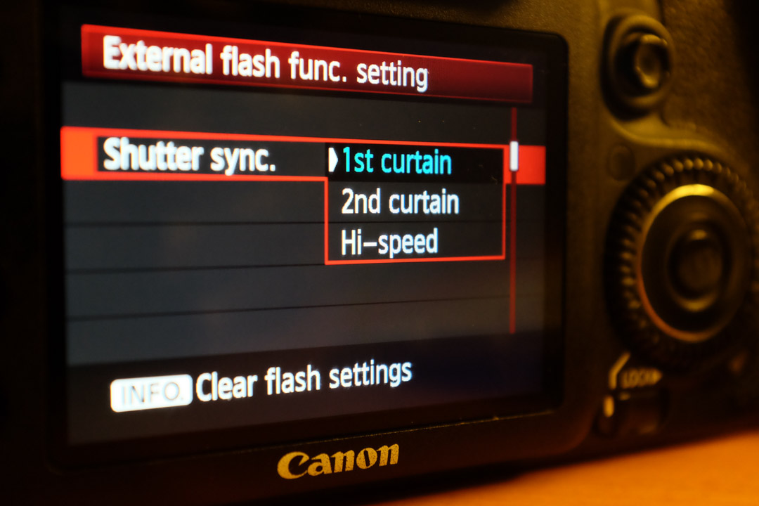 Setting the shutter sync settings