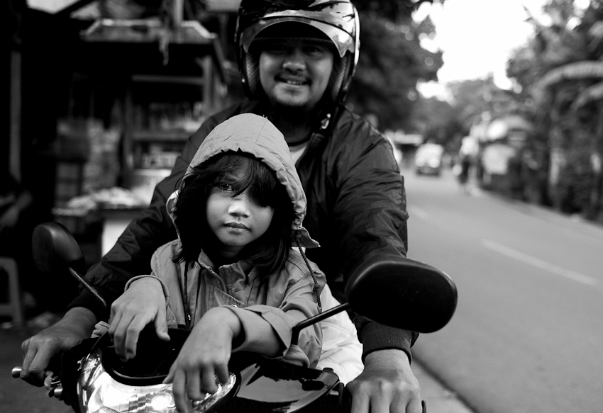 Daughter & Father, Jakarta, January 2014