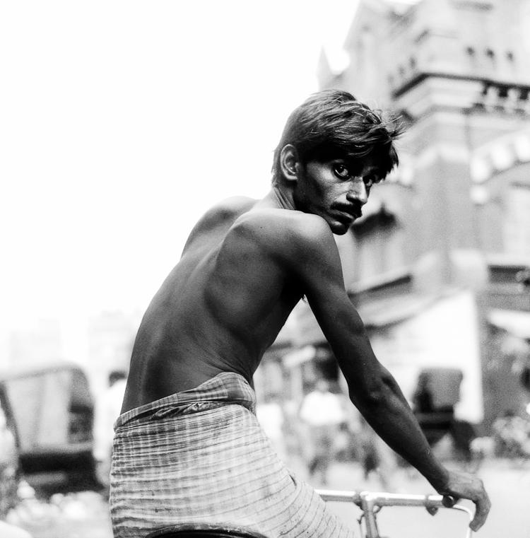 Man on a Bicycle, Kolkata, India, 2005