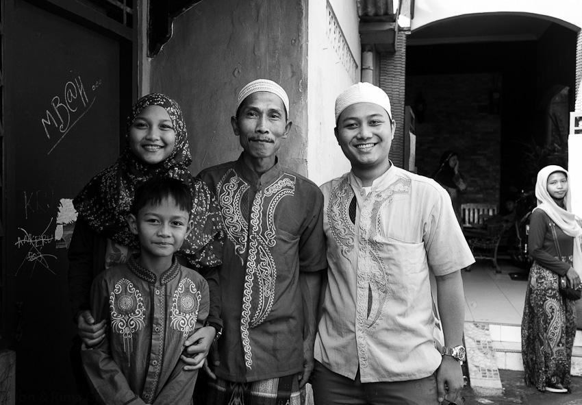 Ali's family, Hari Rayi, Lenteng Agung, July 2014