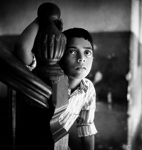 Boy, Parsi Fire Temple, Kolkata 2004