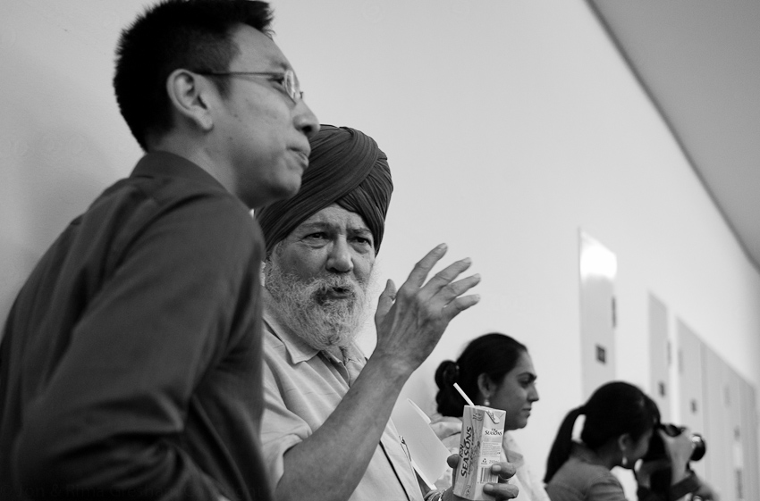 Two of the judges: Alvin Pang & Kirpal Singh