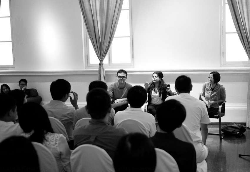 Joshua, Pooja & Ann taking questions ... & providing answers