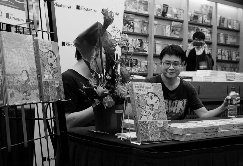 Sonny Liew launches The Art of Charlie Chan Hock Chye at Kinokuniya