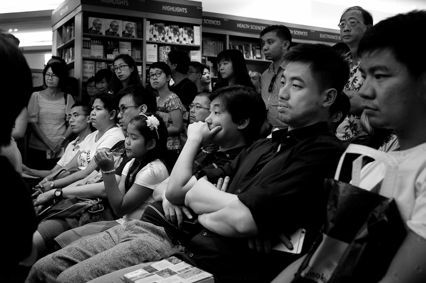 The crowd at the launch of The Art of Charlie Chan Hock Chye