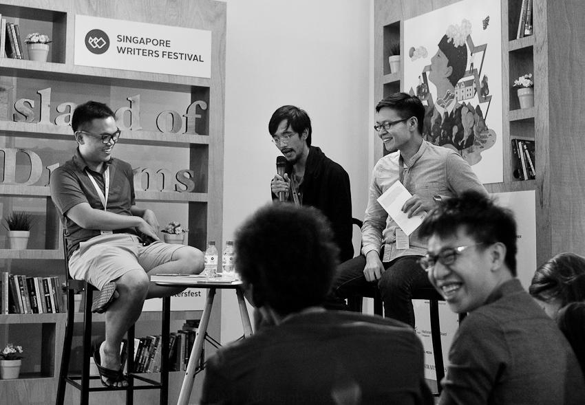 Joshua Ip moderating David Wong & Tse Hao Guan