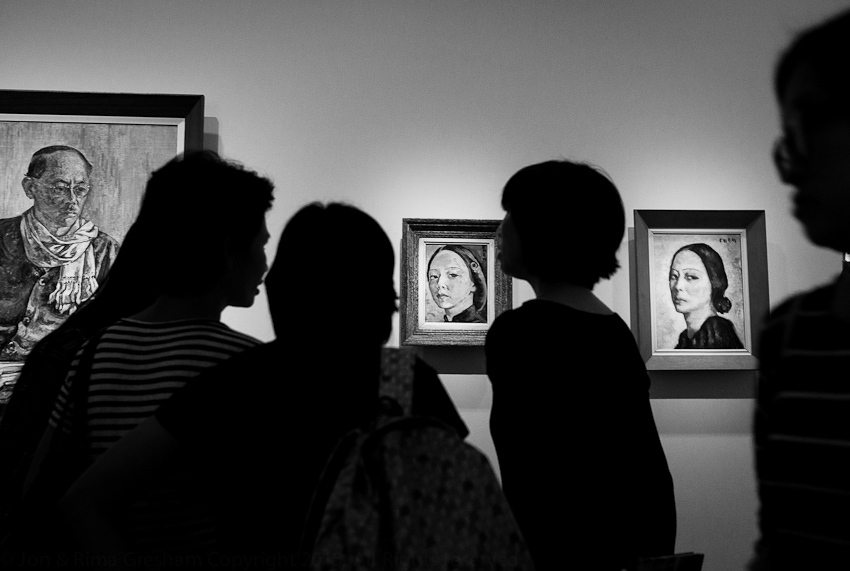 Georgette Chen's husband &self portraits