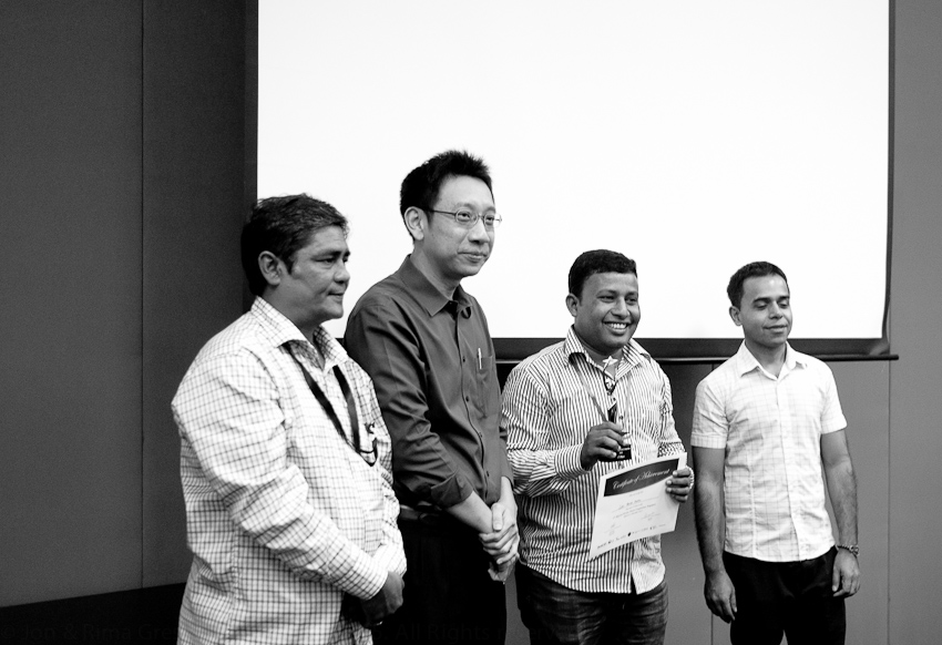 AKM Mohsin, Alvin Pang, Amrakajona Zakir (1st Prize) & Shivaji Das