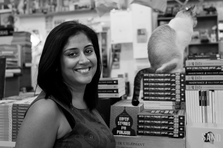 Balli Kaur Jaswal, author of Erotic Stories for Punjabi Widows, at Books Actually, May 2017