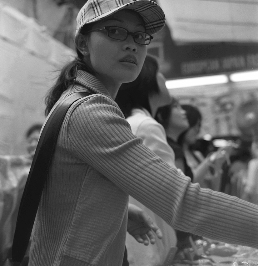 Lady, Hong Kong, Rolleiflex TLR, 2005 or 2006