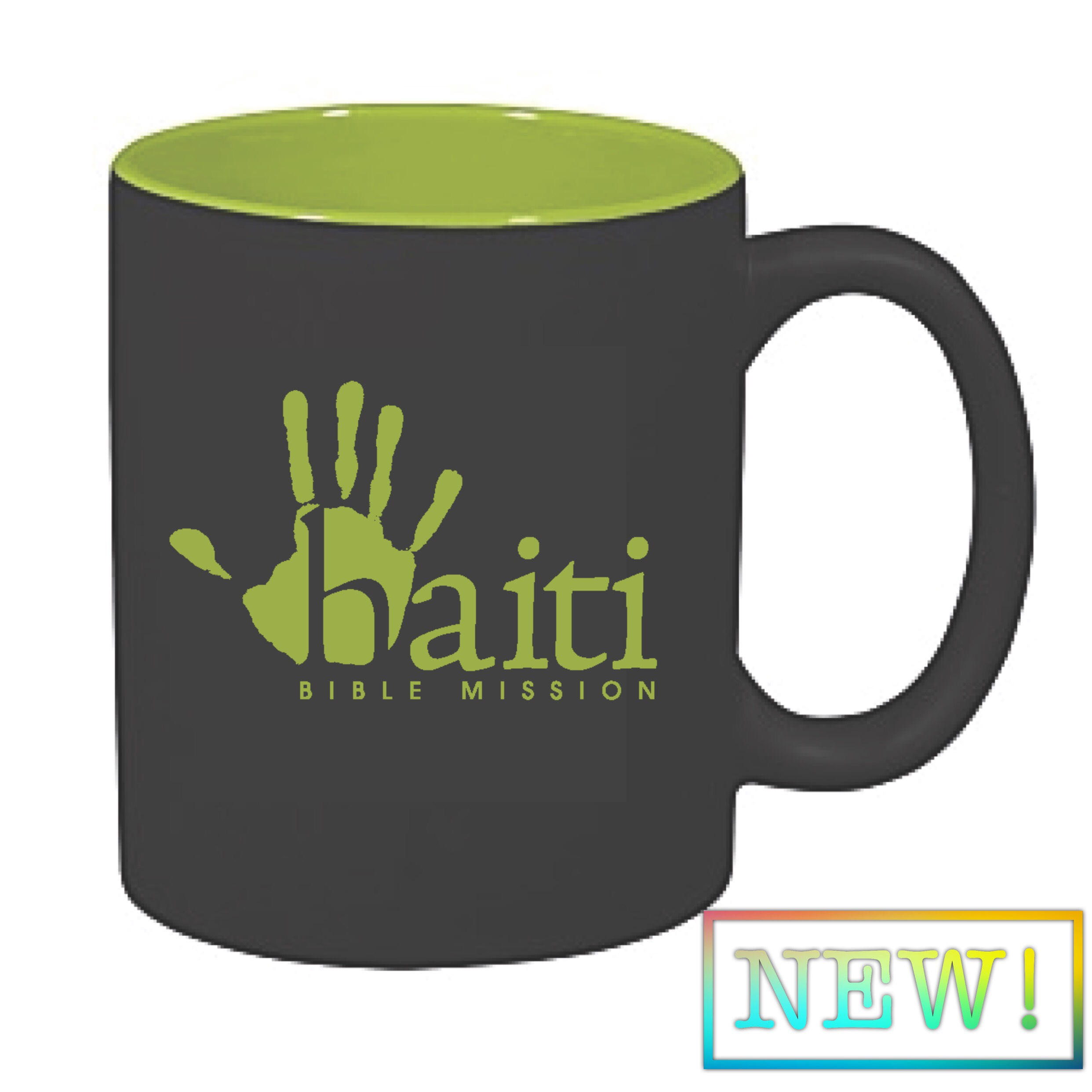 New Logo Mugs! 12 oz Matte Black with HBM Green interior.