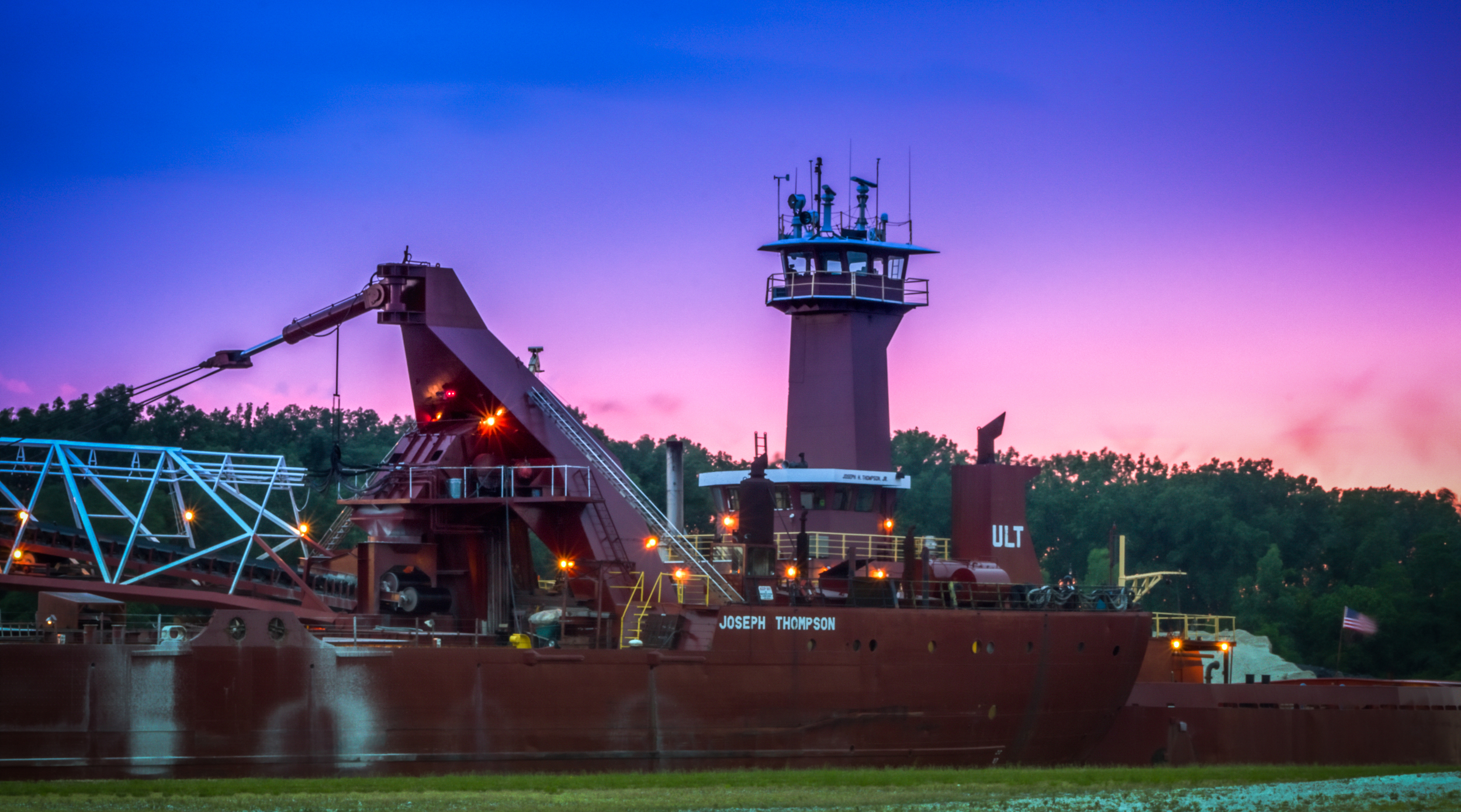 Cargo Ship on the Grand River