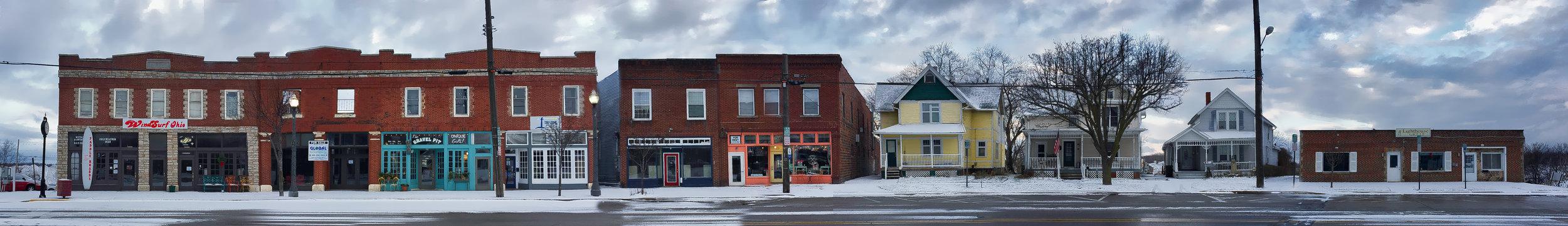 Downtown Fairport Harbor, Ohio