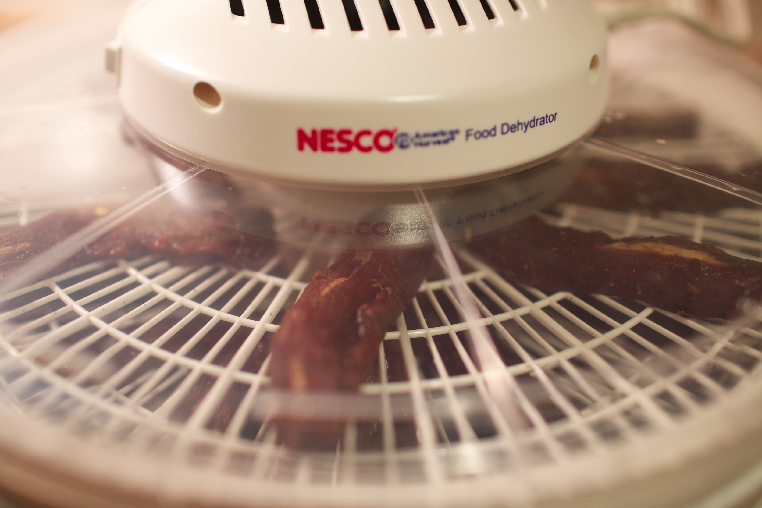 The Nesco food dehydrator on!