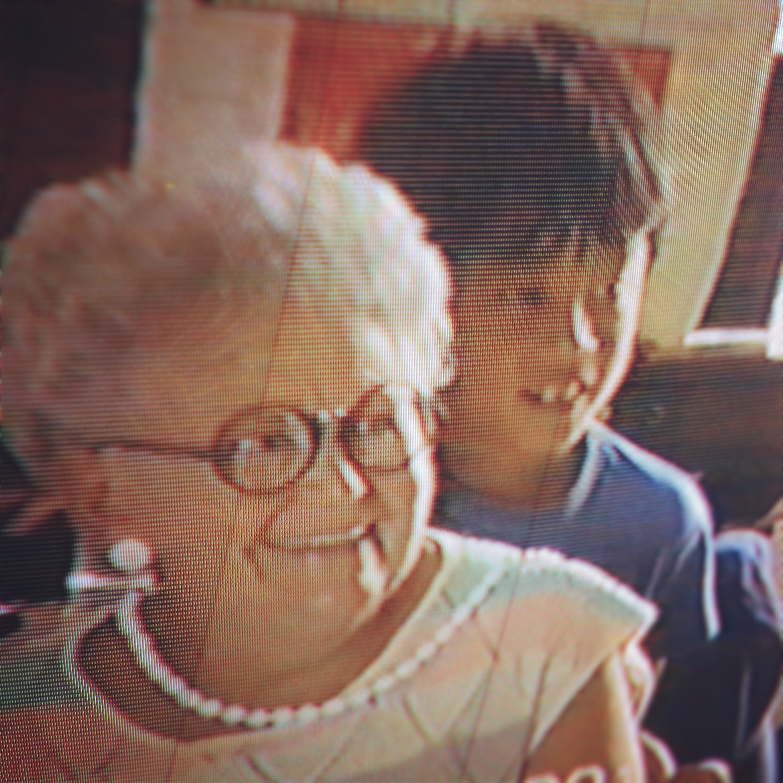Grandma Sholly at my 9th birthday party.