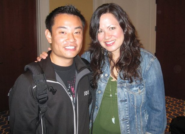 With Shannon Lee, Bruce Lee's Daughter