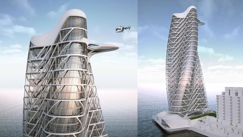 Strata Towe  Location: Abu Dhabi Architect: Asymptote  Developer: Aldar Properties PJSC Structural Engineer: ARUP