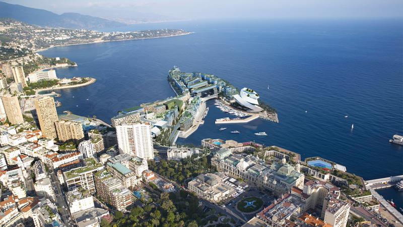 Monte Carlo Land Extension  Location:Monte Carlo, Monaco Developer:Monte Carlo Sea Land Design:  Studio Daniel Libeskind with Arata Isozaki, Andrea Maffei and Alexandre Giraldi Landscape:West 8, Rotterdam Structural Engineer: ARUP