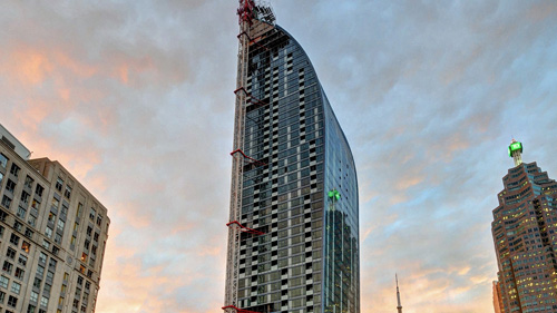 L-Tower  Location:Toronto,Canada Developer: Castlepoint Realty Partners Limited  Design: Studio Daniel Libeskind  Architect of Record:Page + Steele/IBA Architects Structural Engineer:Jablonsky, Ast and Partners