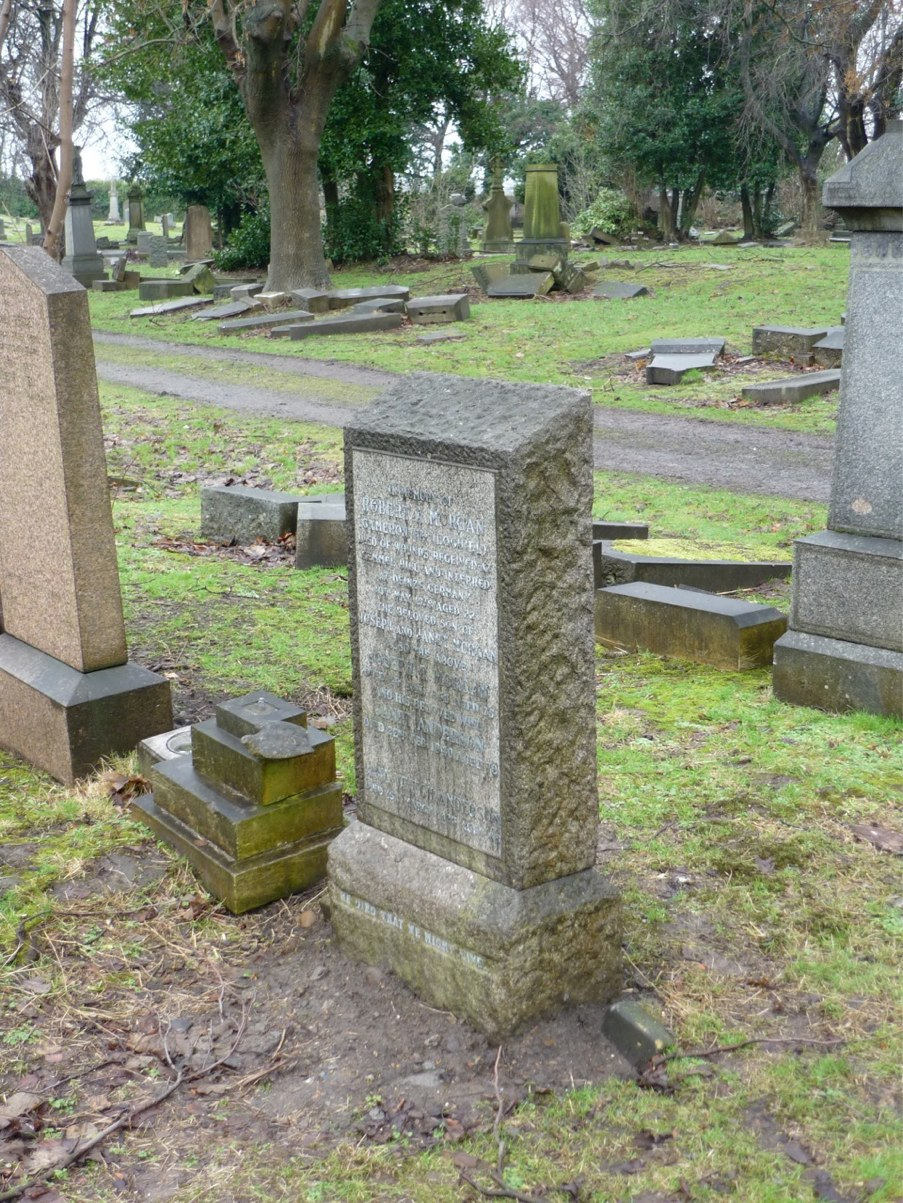 Restored Gravestone of Jane Veitch Anderson and Morgan Family Members