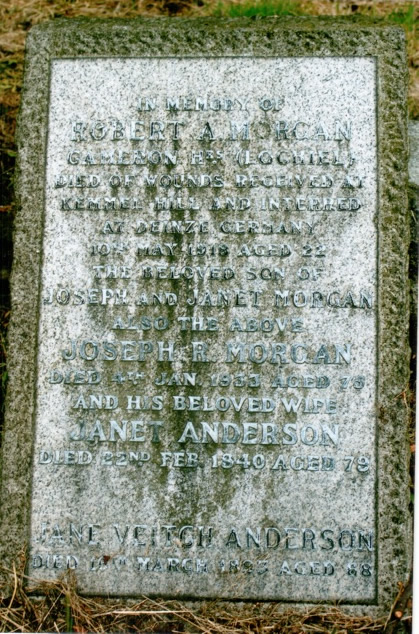 Gravestone of Jane Veitch Anderson and Morgan Family Members