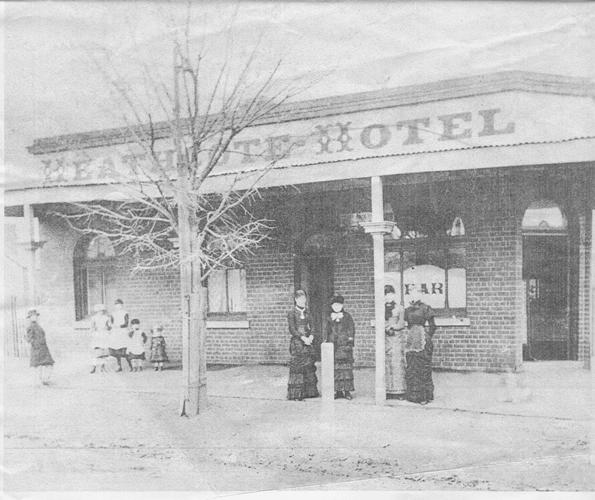 Heathcote Hotel in the 1880s