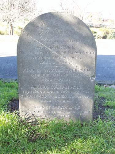 Gadd Headstone